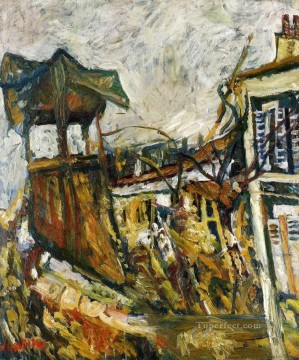 parisian suburb Chaim Soutine cityscape city scenes Oil Paintings