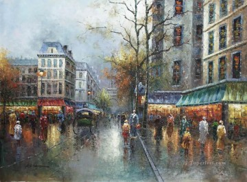st085B impressionism Paris scenes Oil Paintings