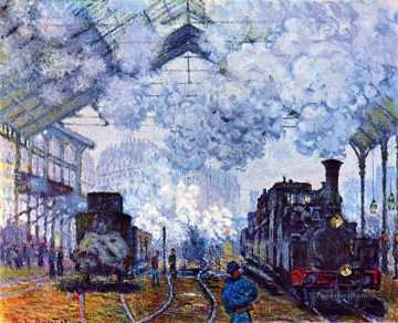 Paris Painting - Monet St Lazare Station Paris