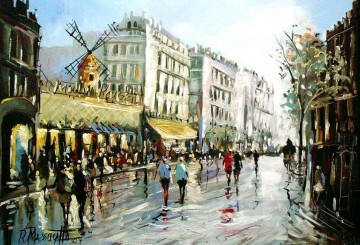 Moulin Rouge by ricardomassucatto Paris Oil Paintings