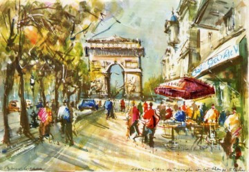 Paris Painting - Paris watercolor 6