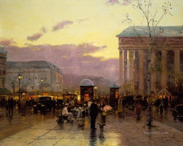 Paris Painting - Rainy Dusk Paris urban