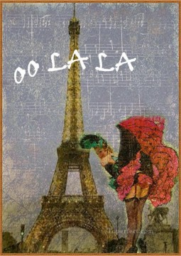 Sunday Postcard Paris Oil Paintings