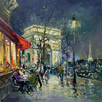Paris Painting - street scenes in Paris 36