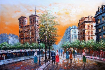 Paris Painting - street scenes in Paris 37