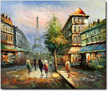 Artworks in 150 Subjects Painting - street scenes in Paris 40