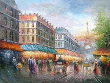 Artworks in 150 Subjects Painting - street scenes in Paris 41