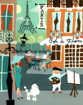 Paris Painting - street scenes in Paris 80
