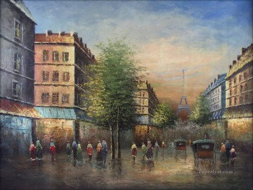 Paris Painting - street scenes in Paris 87