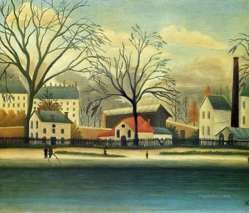 suburban scene 1896 Henri Rousseau Paris Oil Paintings