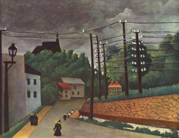 view of malakoff hauts de seine 1903 Henri Rousseau Paris Oil Paintings