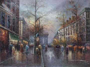 Paris Painting - st055D impressionism Paris scenes