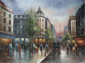 Paris Painting - st064B impressionism Paris scenes