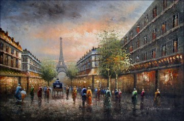 Paris Painting - st082B impressionism Paris scenes