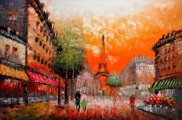 Paris Painting - st084B impressionism Paris scenes