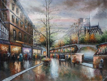 Paris Painting - st087B impressionism Paris scenes