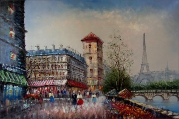 Paris Painting - yxj037fB impressionism Paris scenes