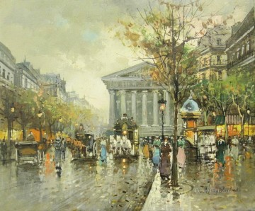 Paris Painting - Antoine Blanchard Madeleine Church Paris