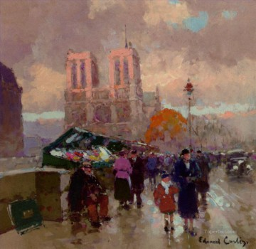 Paris Painting - EC effect of sunlight on notre dame Paris