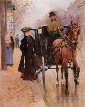 Paris Painting - Home Driver Paris scenes Jean Beraud