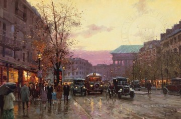 Paris Twilight urban Oil Paintings