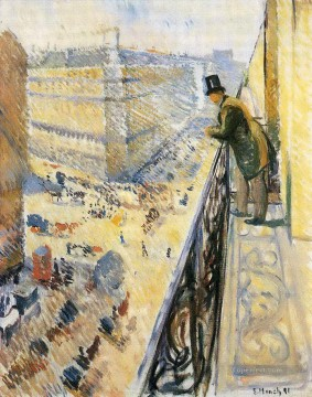 Cityscape Painting - Street Lafayette Edvard Munch street lafayette 1891 Parisienne