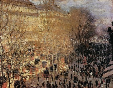 Paris Painting - The Boulevard des Capuchine Claude Monet Paris