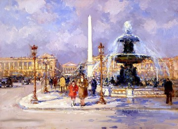 yxj043fD impressionism Parisian scenes Oil Paintings
