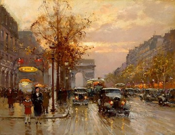 yxj044fD impressionism Parisian scenes Oil Paintings