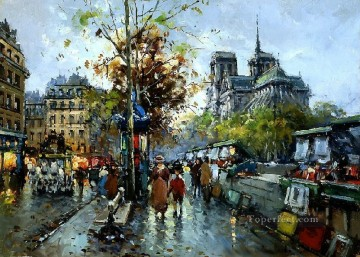 yxj050fD impressionism scenes Parisian Oil Paintings