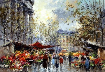 yxj054fD impressionism scenes Parisian Oil Paintings