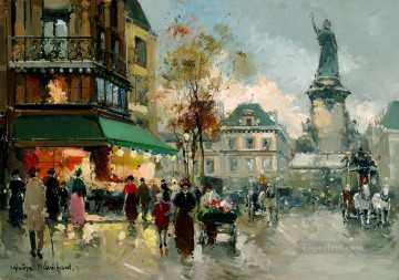 Paris Painting - AB place de la republic 1 Paris