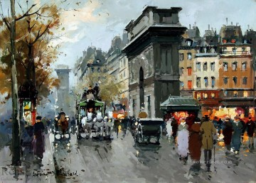 Paris Painting - AB porte st martin 1 Paris