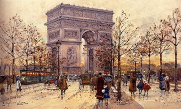 Arc De Triomphe Parisian Eugene Galien Laloue Oil Paintings