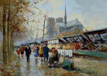 EC bouquinistes Paris Oil Paintings
