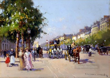 Paris Painting - EC champs elysees 8 Paris