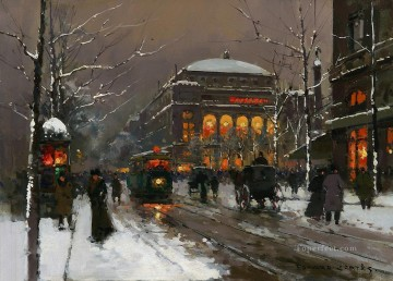 EC chatelet in winter Paris Oil Paintings