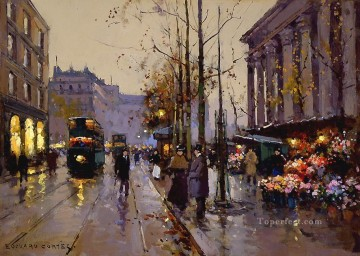EC flower market at la madeleine 4 Paris Oil Paintings