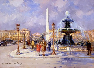 Paris Painting - EC place de la concorde Paris