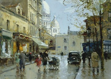 EC place from a knoll montmartre Paris Oil Paintings