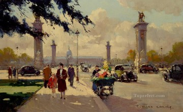 Paris Painting - EC pont alexander iii Paris