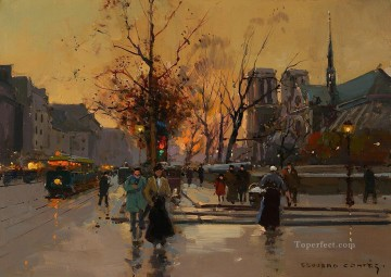 EC quai de montebello notre dame Paris Oil Paintings