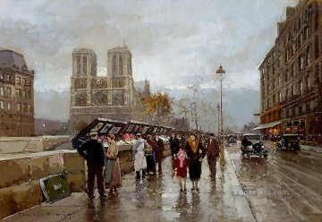 EC quay saint michel Paris Oil Paintings