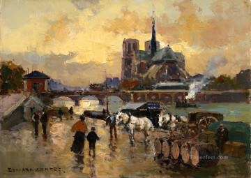 Paris Painting - EC tournelles dock Paris