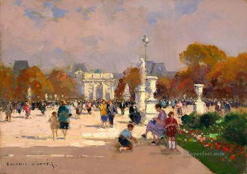 Paris Painting - EC tuileries garden Paris