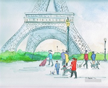 Mark Higden Watercolor 2 Paris Oil Paintings
