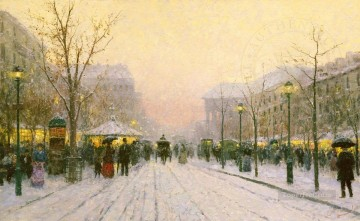Paris Snowfall urban Oil Paintings