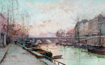 Paris Painting - Paris scenes 05 Eugene Galien