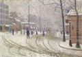 Paul Signac SNOW BOULEVARD DE CLICHY PARIS