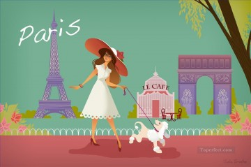 paris by justin mctwisp油画、国画